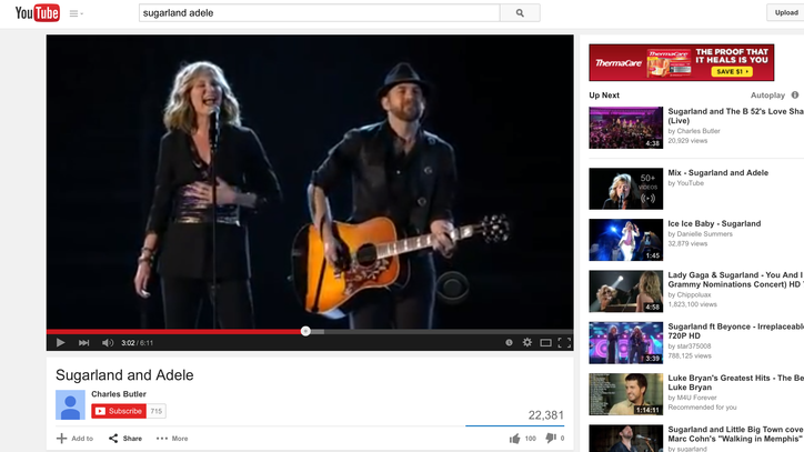 Flashback: See Sugarland Duet With Adele on 'Chasing Pavements'