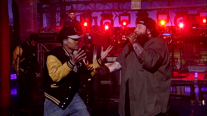 Action Bronson, Chance the Rapper Bring 'Baby Blue' to 'Letterman'
