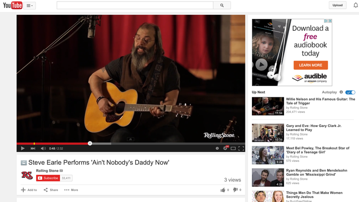 Watch Steve Earle Perform a Stripped-Down 'Ain't Nobody's Daddy Now'