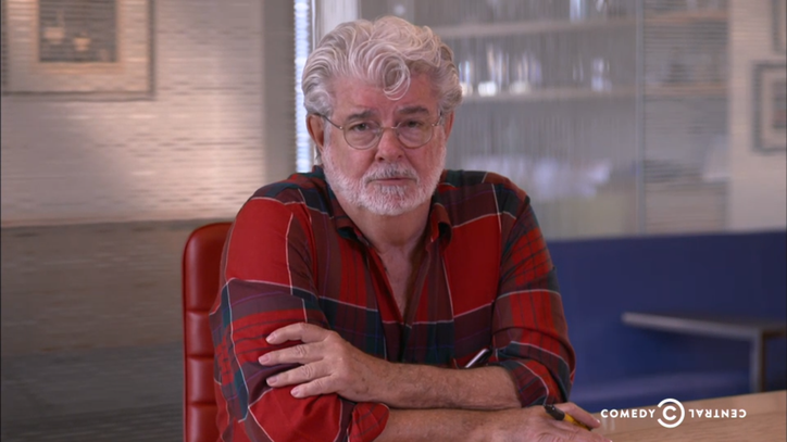 Watch George Lucas Mock Fox News on 'The Daily Show'