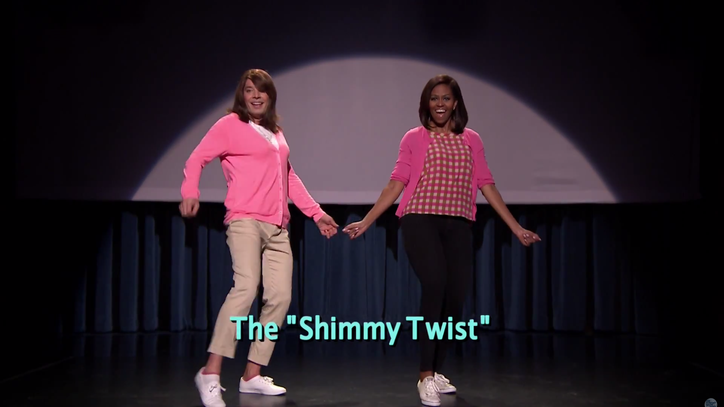 Watch Fallon and Michelle Obama Reunite for 'Evolution of Mom Dancing Part 2'