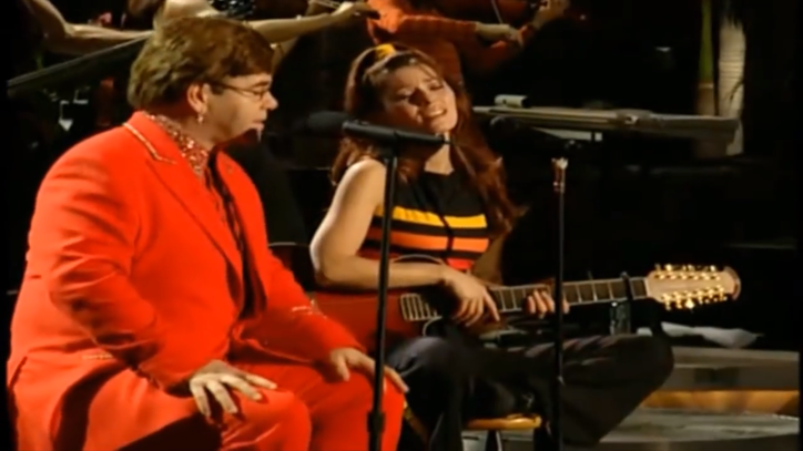 Flashback: Shania Twain and Elton John Swap Power Ballads