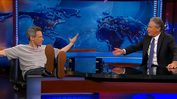 Watch Jon Stewart Fawn Over Ad-Rock on 'Daily Show'