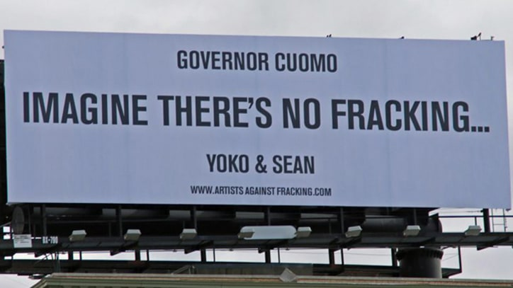 Yoko Ono, Sean Lennon Put Anti-Fracking Message on New York Billboard