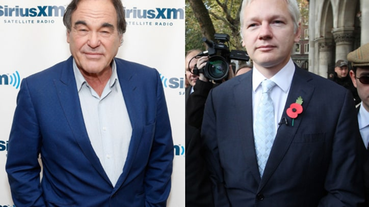 Oliver Stone Visits Julian Assange in London