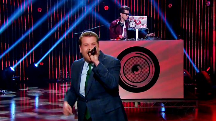 Watch Mark Ronson Guilt James Corden Into Rapping 'Late Late Show' Monologue