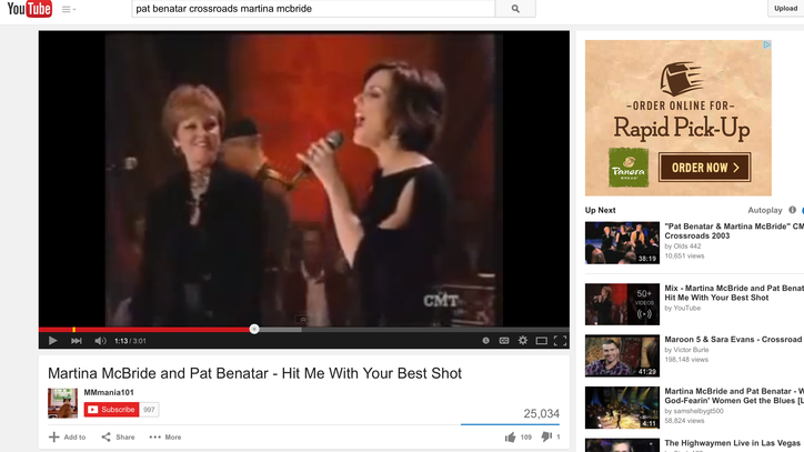 Flashback: See Martina McBride and Pat Benatar Wail on Eighties Classic