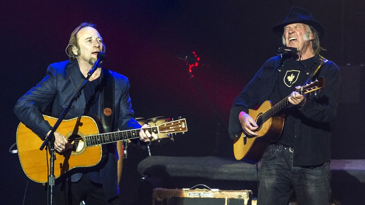 Neil Young and Stephen Stills Light Up the Stage at L.A. Autism Benefit