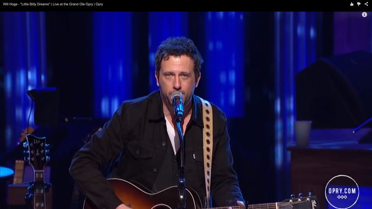 See Will Hoge Perform Wistful 'Little Bitty Dreams' on the Opry