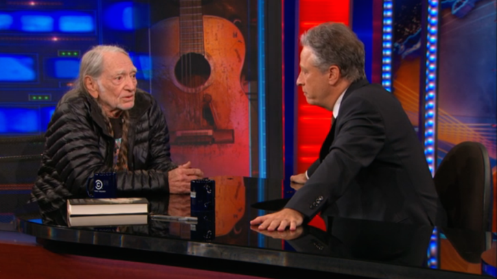 Watch Willie Nelson Talk Songwriting Legacy, Indestructible Guitars on 'Daily Show'