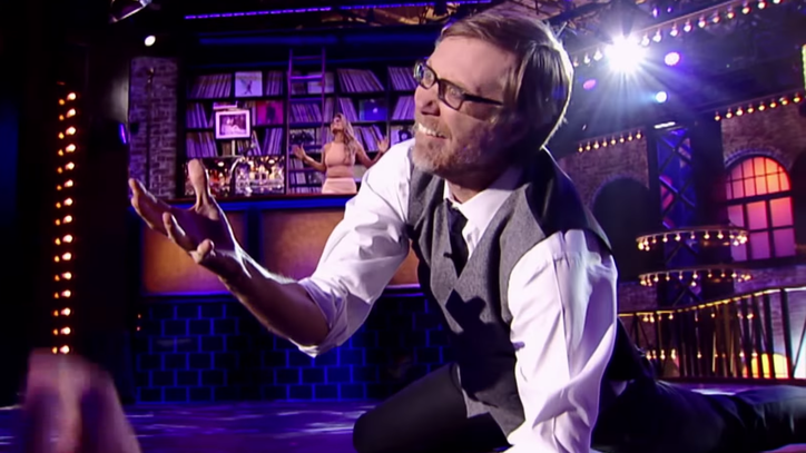 Watch Stephen Merchant Don 'Dirrty' Leather Chaps on 'Lip Sync Battle'