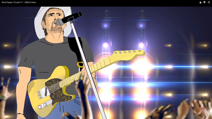 Watch Brad Paisley's Wildly Animated 'Crushin' It' Video