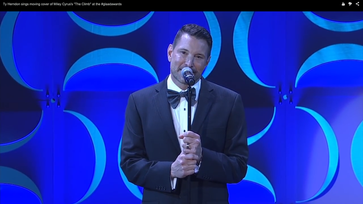 Watch Ty Herndon Cover Miley Cyrus at the GLAAD Media Awards