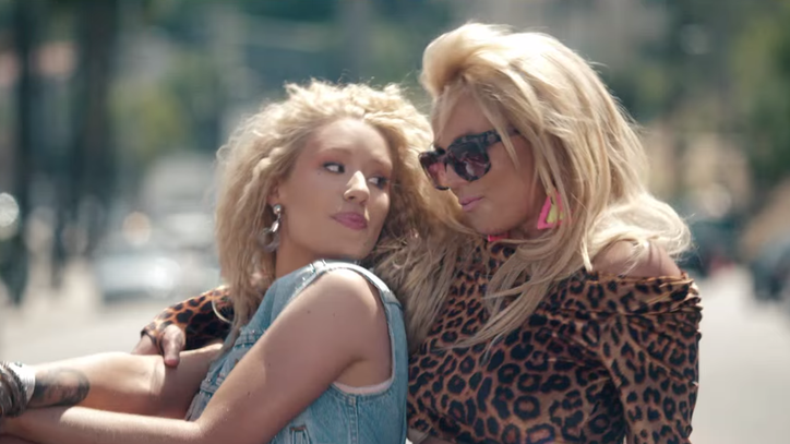Britney Spears, Iggy Azalea Have Campy Fun in 'Pretty Girls' Video