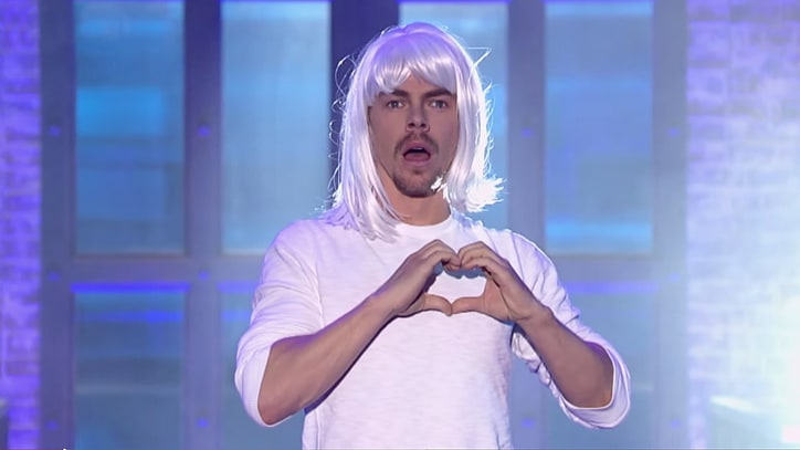 See Julianne and Derek Hough Gross Each Other Out on 'Lip Sync Battle'