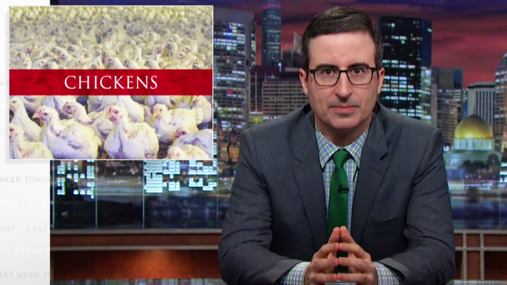 John Oliver Takes on America's Sordid Love Affair With Chicken