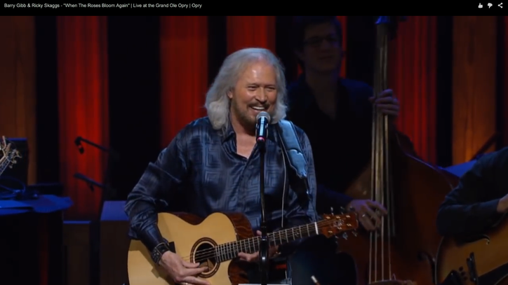 Flashback: Barry Gibb Proves His Country Cred
