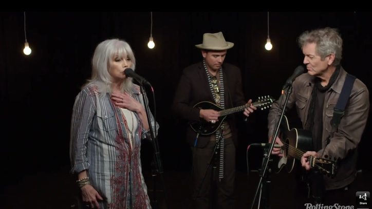 See Emmylou Harris, Rodney Crowell Harmonize on 'The Traveling Kind'