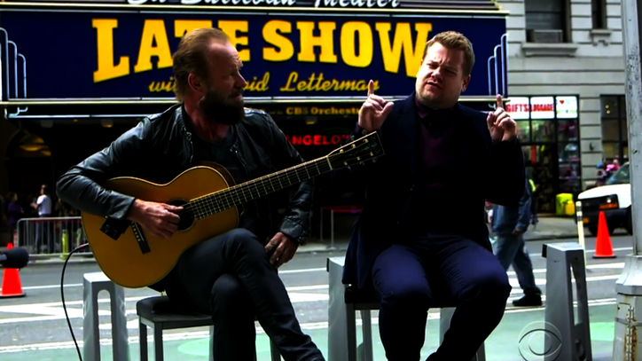 Sting, James Corden Sing So Long to David Letterman