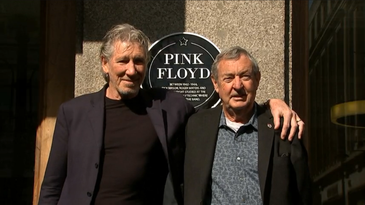 Watch Roger Waters, Nick Mason Reunite for Honor at Old School