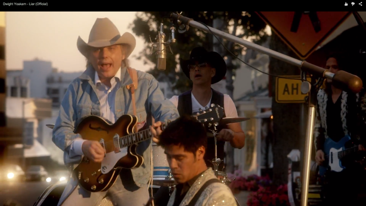 Watch Dwight Yoakam Stop Traffic in New 'Liar' Video