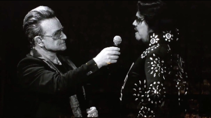 Watch Bono Bring Elvis Impersonator Onstage After Glitch