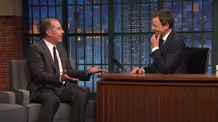 Jerry Seinfeld Tells Seth Meyers He Did Not Want to Be on 'Late Night'