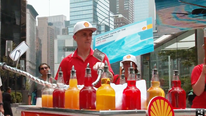 Watch the Yes Men Impersonate Shell, Make 'Last Iceberg' Snow Cones