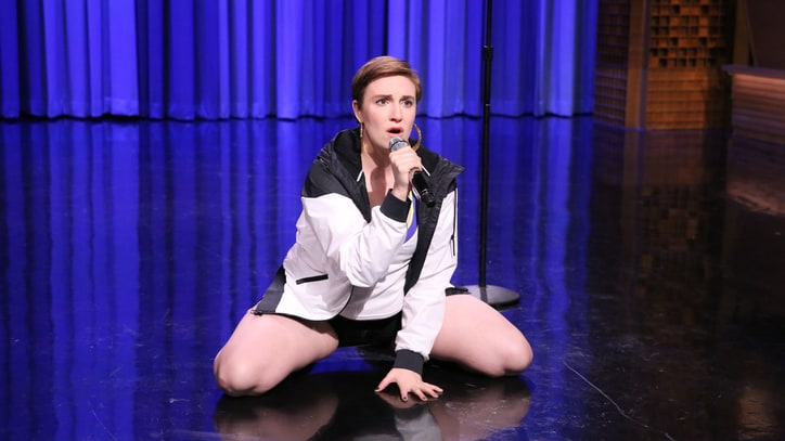 Lena Dunham Lip Syncs 'Fat Bottomed Girls' on 'Tonight Show'