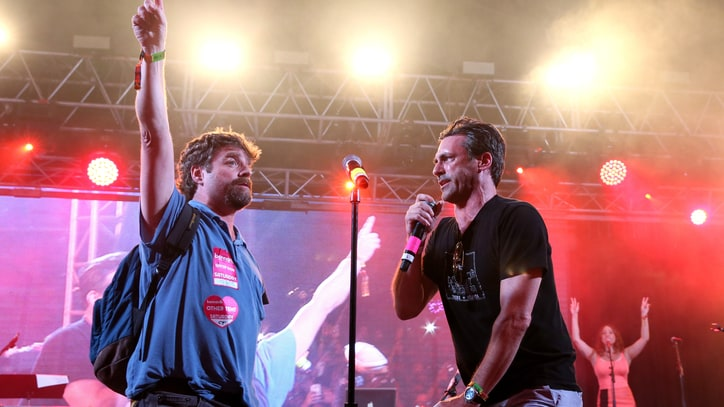 Jon Hamm and Zach Galifianakis Kick Off Bonnaroo Superjam