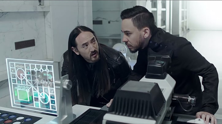 See Steve Aoki, Mike Shinoda Save the World in New Video