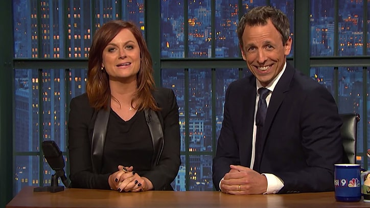 Watch Amy Poehler, Seth Meyers Reunite for 'Really!?!' on 'Late Night'