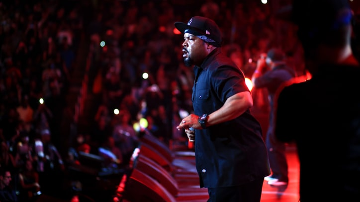 Ice Cube Reunites With N.W.A's DJ Yella and MC Ren Onstage