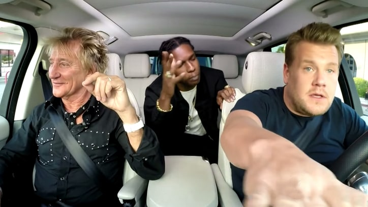 Watch Rod Stewart, A$AP Rocky Cruise L.A. on 'Carpool Karaoke'