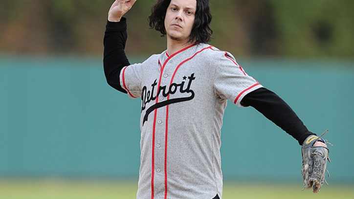 Jack White Throws First Pitch at Detroit Tigers Game...to Santa