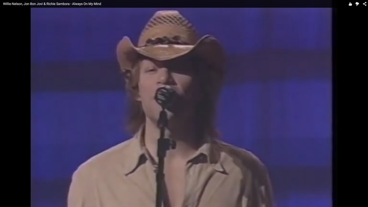 Flashback: Bon Jovi Perform Somber Duet With Willie Nelson