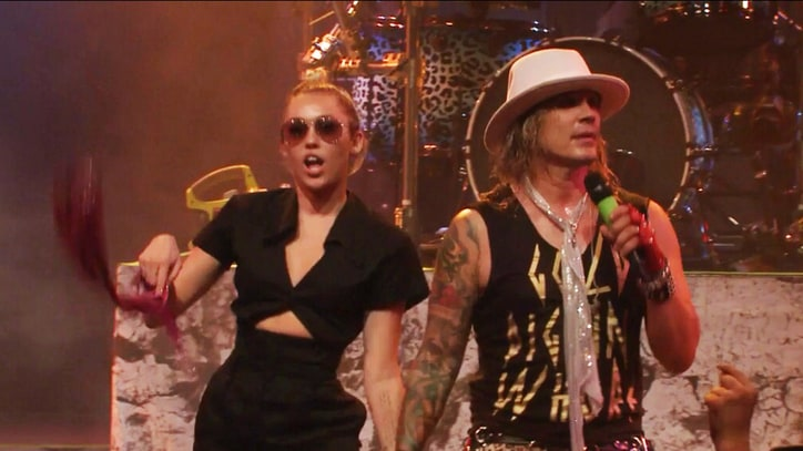 Watch Miley, Billy Ray Cyrus Cover Def Leppard With Steel Panther