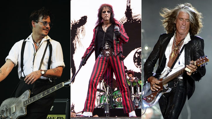 See Johnny Depp, Alice Cooper, Joe Perry Jam With Rock Royalty