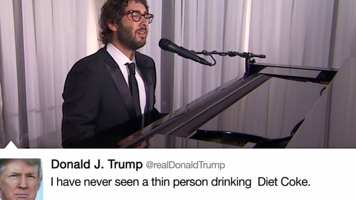 See Josh Groban Croon Donald Trump's Tweets for Jimmy Kimmel