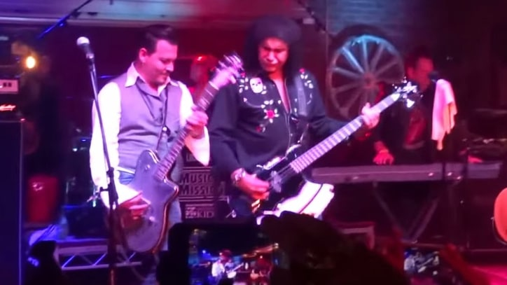 See Johnny Depp, Gene Simmons Play Kiss Classics for Charity