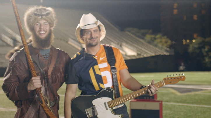 Watch Brad Paisley Recruit Mascots for 'Country Nation' Video