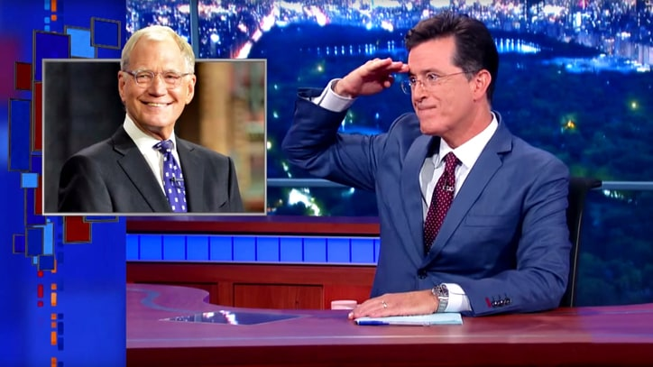 Watch Stephen Colbert's David Letterman Tribute on 'Late Show'