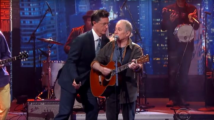 Watch Stephen Colbert, Paul Simon Form Troubled Waters on 'Late Show'