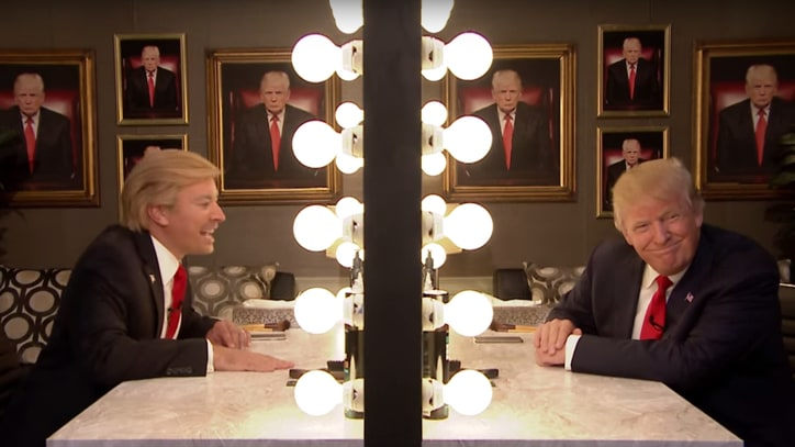 Donald Trump Interviews Himself in 'Tonight Show' Mirror Sketch