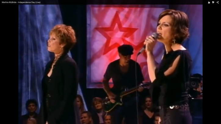 Flashback: Martina McBride, Pat Benetar Celebrate 'Independence Day'