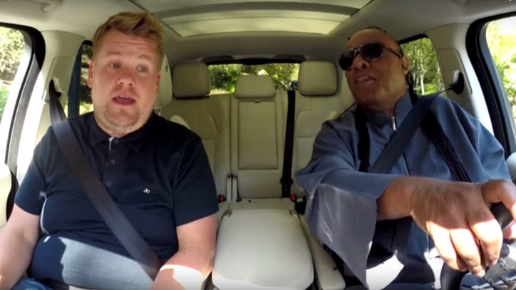 Stevie Wonder, James Corden Squabble, Sing on 'Carpool Karaoke'