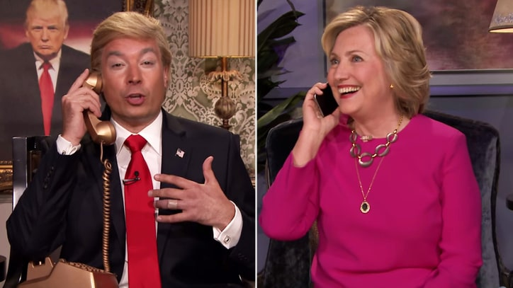 Hillary Clinton Gets Campaign Advice From 'Trump' on 'Fallon'