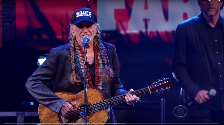 See Willie Nelson, John Mellencamp Resurrect 'Night Life' on 'Colbert'