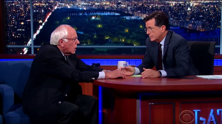 Bernie Sanders Serves 'Bern Notice' on 'Late Show'