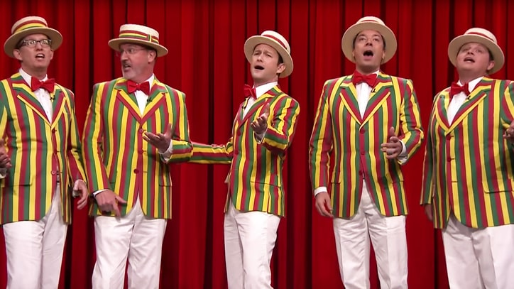Jimmy Fallon, Joseph Gordon-Levitt Cover Rihanna as Barbershop Quintet